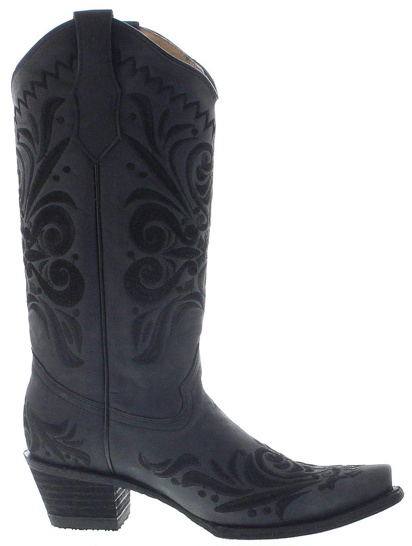 Circle G Boots L5433 Stivali da Cowboy, da Donna, in Pelle