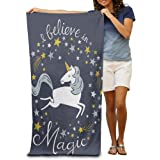 Cute Unicorn Absorbent Quick Dry Travel Beach Blanket Pool Bath Oversized Beach Towel 31.5in51.2in