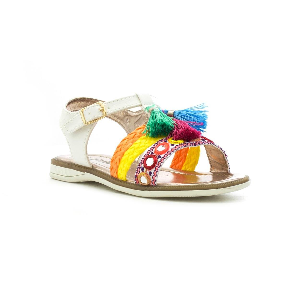 22f829b0f80d Walkright Girls White Tassel Flat Sandal  Amazon.co.uk  Shoes   Bags