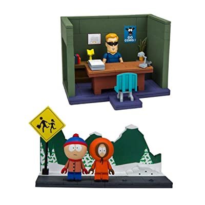 McFarlane Toys South Park Small Construction Sets: Bus Stop and Principal's Office: Toys & Games