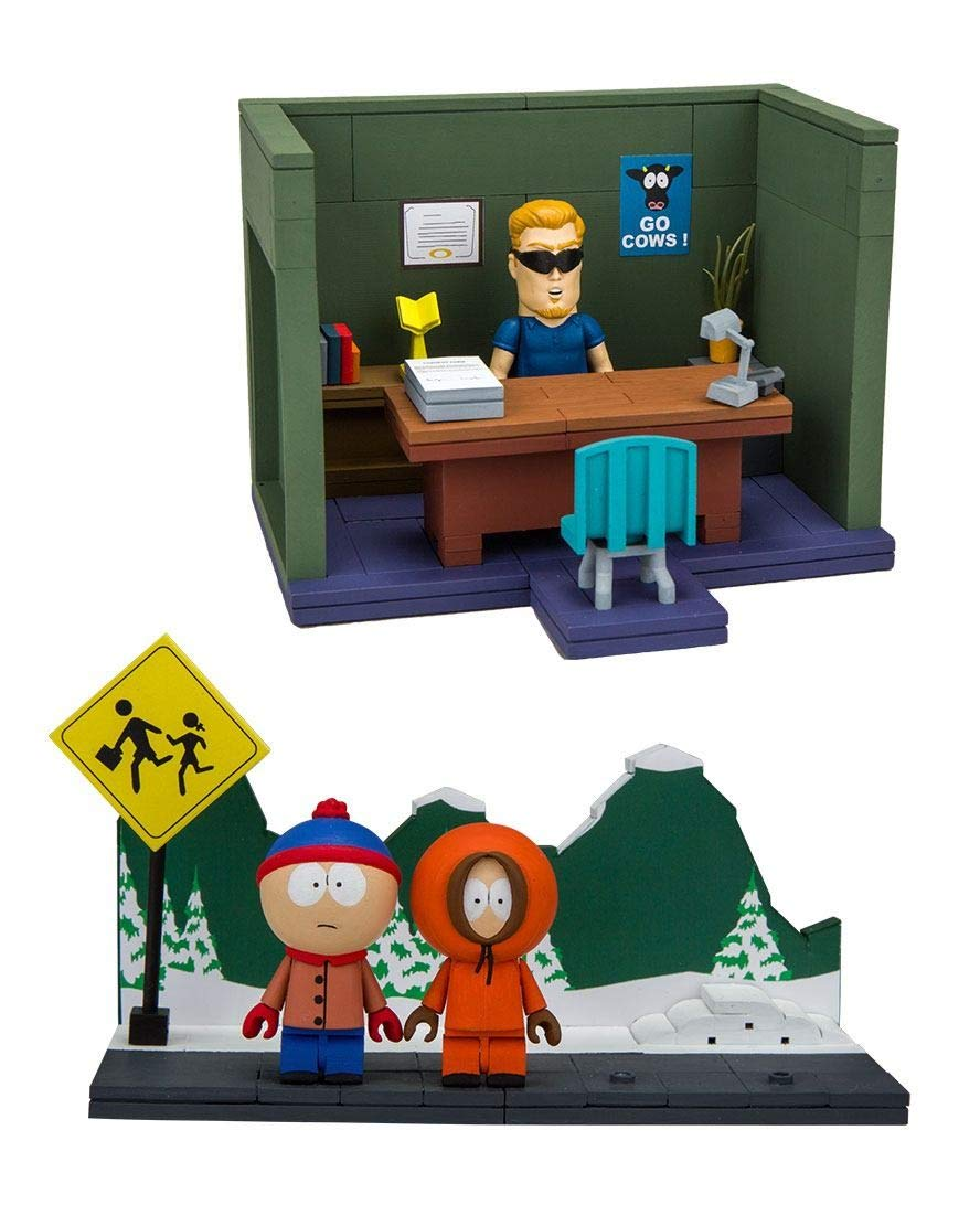 Bus Stop and Principals Office McFarlane Toys South Park Small Construction Sets