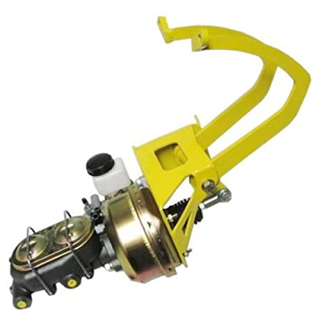 Universal amarillo Cable de freno de pedal de embrague Kit de montaje Booster Master Cylinder