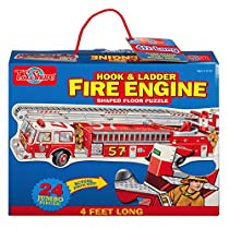 T.S. Shure Fire Engine Shaped Jumbo Floor Puzzle