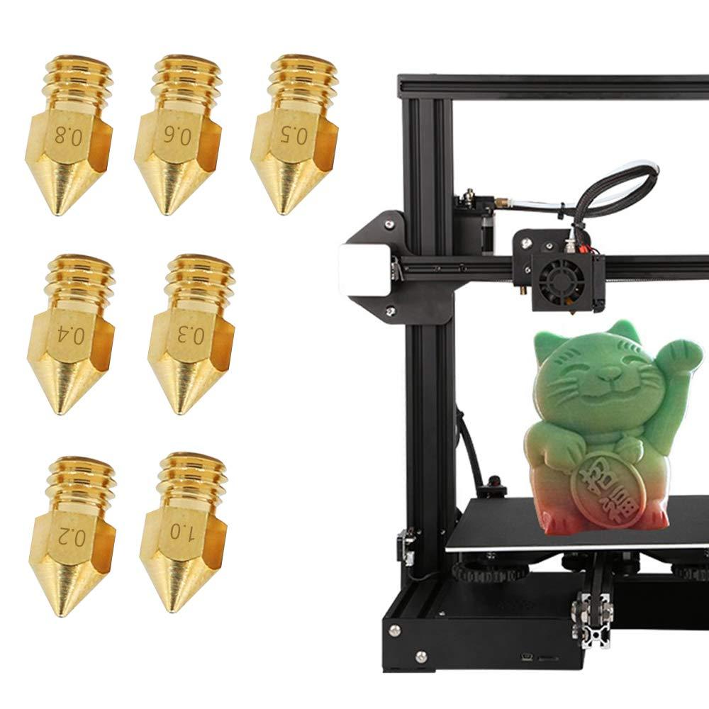 16 St/ück 3D-Drucker MK8 Messing Extruder D/üse Druckkopf mit 4 DIY D/üsenwerkzeugen Schl/üsselh/ülse und Reinigung SourceTon 7 verschiedene Gr/ö/ßen MK8 D/üsen /& Schraubenzieher Schraubenschl/üssel