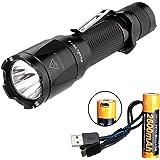 Fenix TK16 1000 Lumen Tactical LED Flashlight /w Instant Strobe, Fenix 2600mAH 18650 USB Rechargeable Battery and Lumen Tactical USB Charging Cable