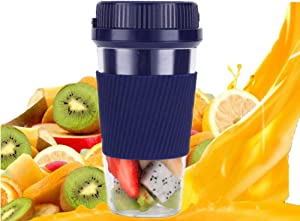 Portable Blender, Smoothies And Shakes Mixer Small Juicer Food Processor 300ML with Automatic Power-Off Protection Juicer Used for Outings, Home, Gym, Office,Blue
