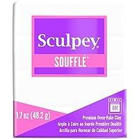 Sculpey Souffle Igloo Polymer Clay, White, 1.7oz/48gm