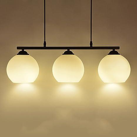 Lampadario illuminazione E27 * 3 in ferro battuto bianco lampadario ...