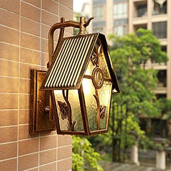 Shiend Amerikanische Balkon Terrasse Garten Wasserdicht Wand Lampe