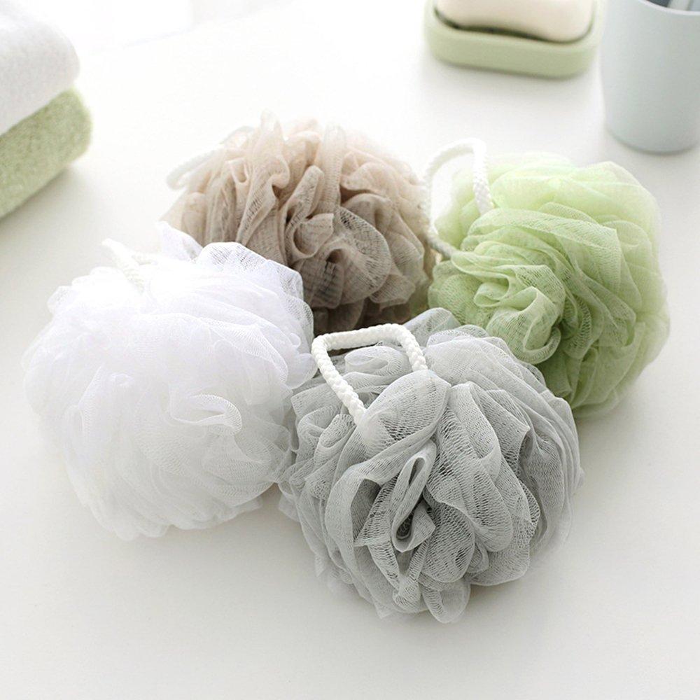 Shower Sponge Extra Large Mesh Pouf Bath Sponge Mesh Net Ball (Pack of 4) Sigmat