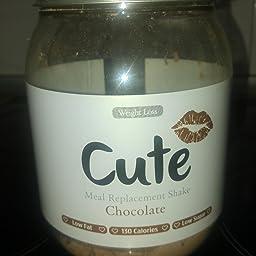 Cute Nutrition Batido Sustitutivo de Comida Sabor Caramelo Salado para el Control de la Pérdida de Peso en Polvo Bebida Dietética para Mujer Bote de 500 g: Amazon.es: Salud y cuidado personal