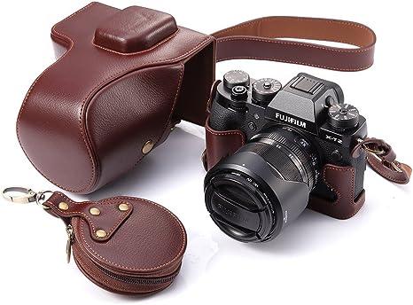 Funda Boliner para cámara Fujifilm X-T2 hecha a mano de cuero ...