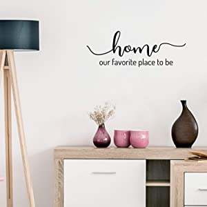 Vinyl Wall Art Decal - Home Our Favorite Place to Be - 8