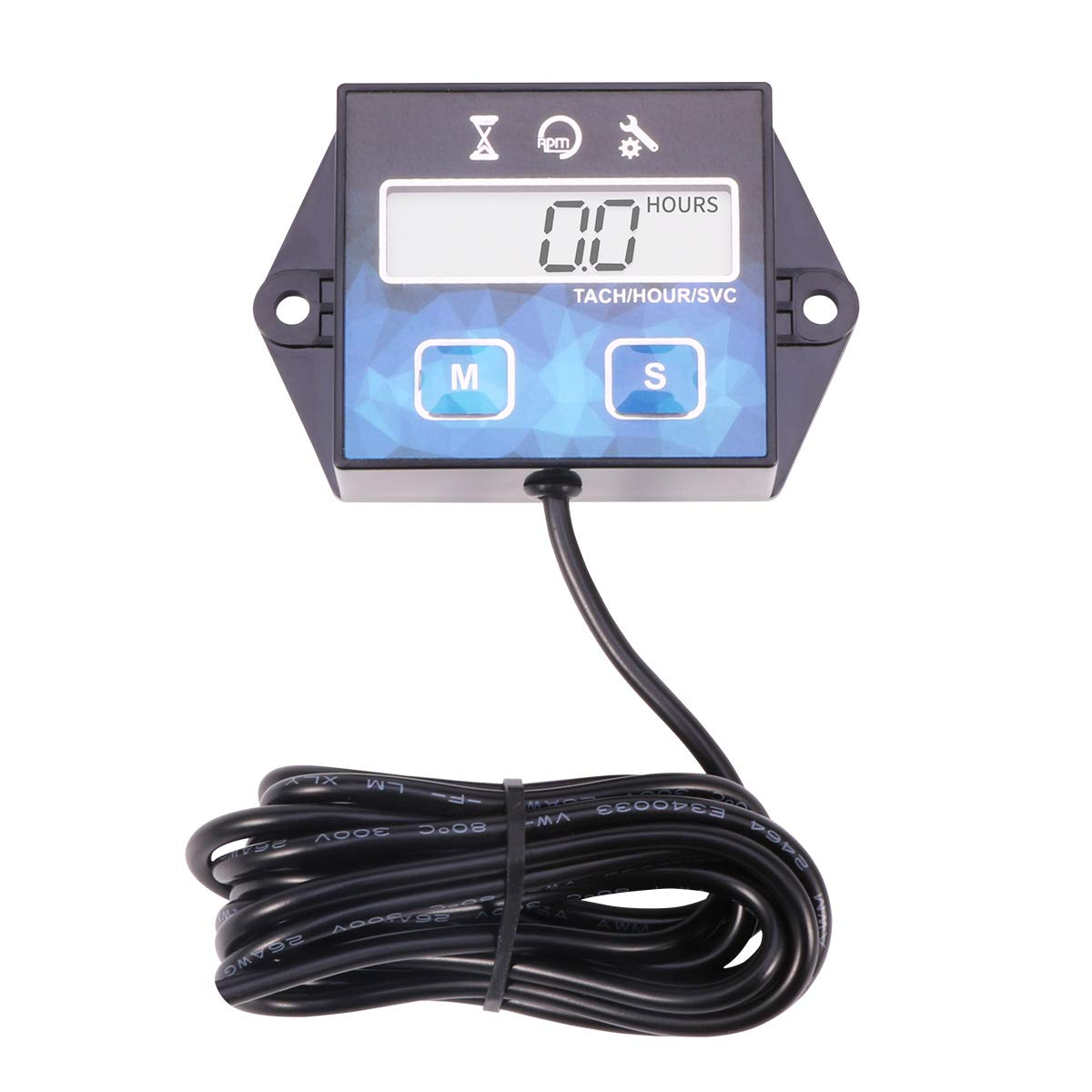 Tacómetro digital Tach para generador de barco pequeño de 2/4 tiempos, cortacésped, motocicleta, motocross, quads, Replaceable Battery without Backlit