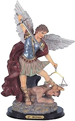 StealStreet SS-G-316.04 Saint Michael The Archangel Holy Figurine Religious Decoration, 16