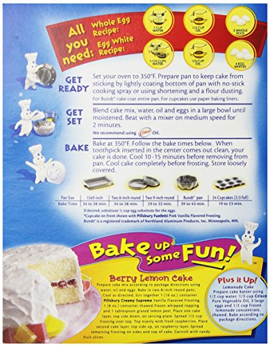 Lemon Box Cake Instructions