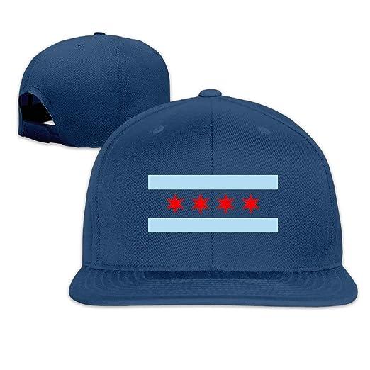 Fashion Adults Baseball Caps Custom Flag of Chicago Flat Along Sport ... 7ac67be4b3b