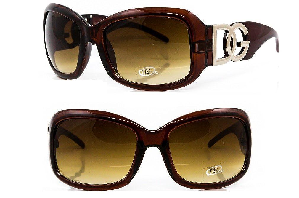 6c695f6274e27 DG Eyewear Sunglasses by DG Studio Collection 2019 - Full UV400 Protection  - Women Ladies Girls Fashion Brown Oversized - Model   DG Beverly Hills  Vintage ...