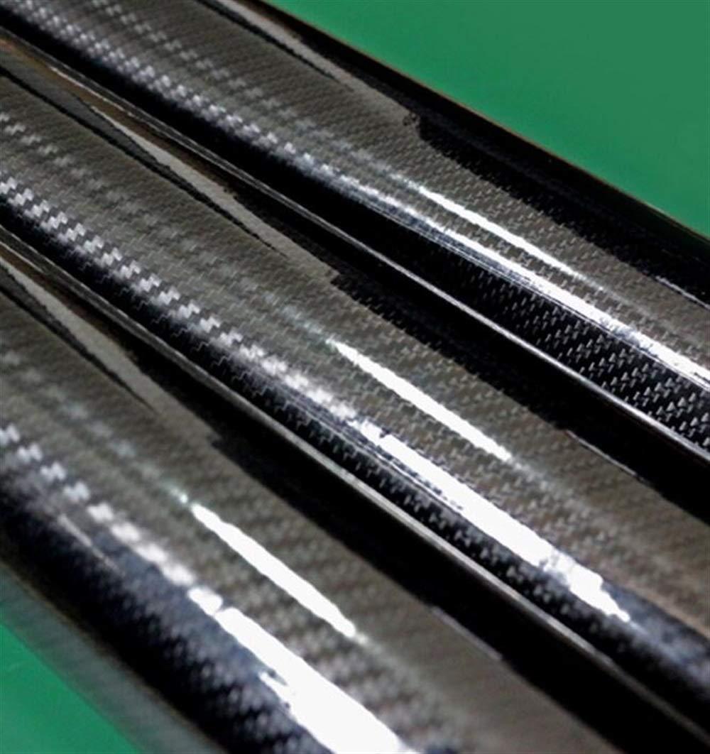Nuevo Coche 5D Wrap Sticker PVC Fibra de Carbono Resistencia a altas temperaturas Impermeable Car Body Roll DIY Decoración Pegatina (Negro) para regalo de ...