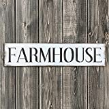 Old Farmhouse Sign Stencil - Reusable DIY Vintage Stencil (Small)