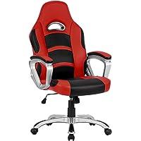 Langria Racing de espalda alta silla de ordenador Gaming oficina ejecutiva de piel sintética