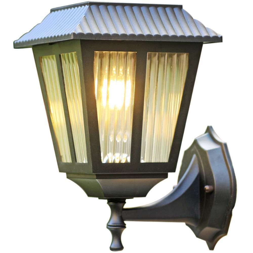 NBKLS Solar-Wandleuchte, Outdoor Wasserdichte Solar-Wand-Licht, Europäische Moderne Minimalistische Balkon-Zaun-Einfahrt Treppe Korridor Gang Beleuchtung