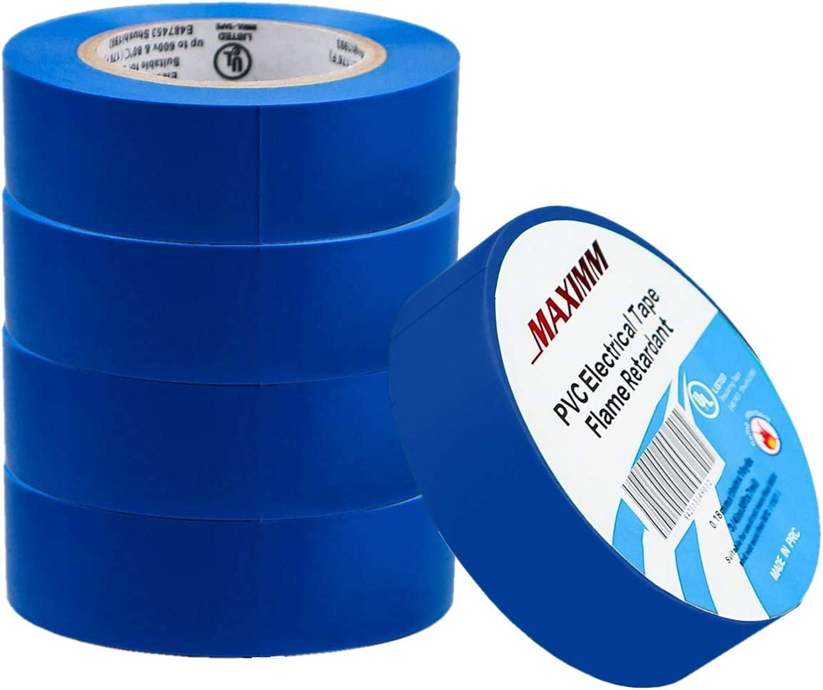 PVC Electrical Insulation Tape 50mm x 33m Blue Flame Retardant