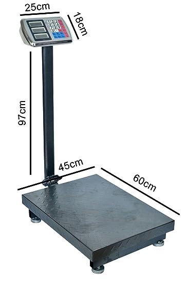 Bascula Industrial de Plataforma 45x60 Balanza Reforzada 500Kg: Amazon.es: Bricolaje y herramientas