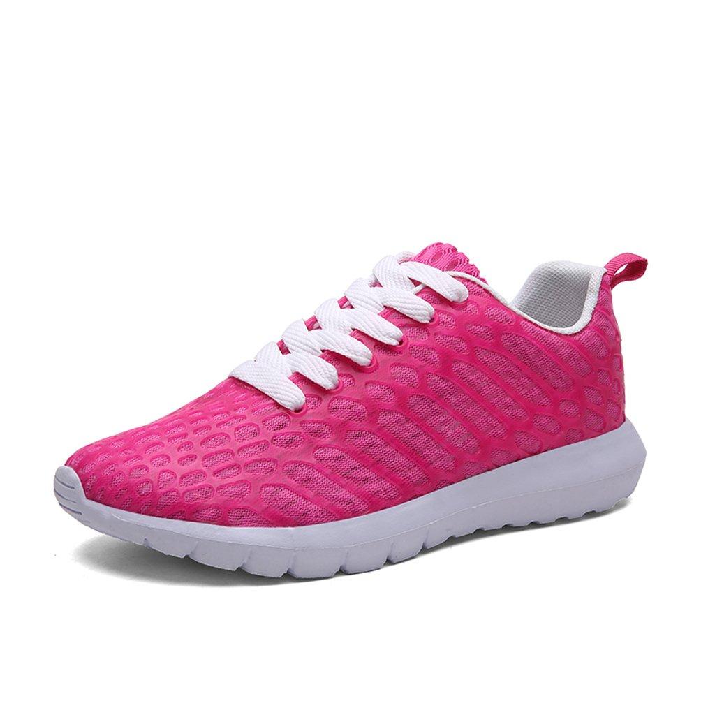 Dannto Herren Damen Sneakers Bequeme Freizeit Schnuuml;rer Profilsohle Laufschuhe Sportschuhe Turnschuhe  37 EU Rosa-C