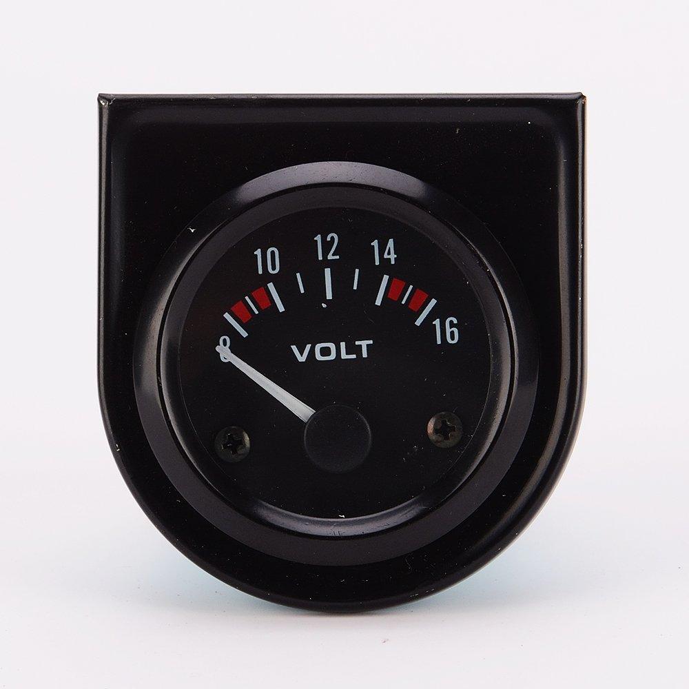 MagiDeal Universal Car 8-16V Voltmeter Volt Gauge Meter 52mm Black