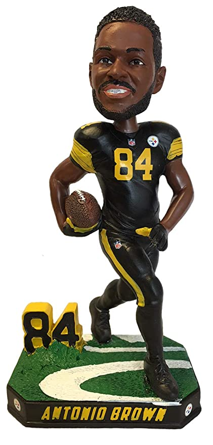 18b6d9dfc77 Antonio Brown Pittsburgh Steelers Special Edition Color Rush Bobblehead NFL