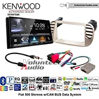 Volunteer Audio Kenwood DDX9704S Double Din Radio Install Kit with Apple Carplay Android Auto Fits 2012-2015 Fiat 500 (White)