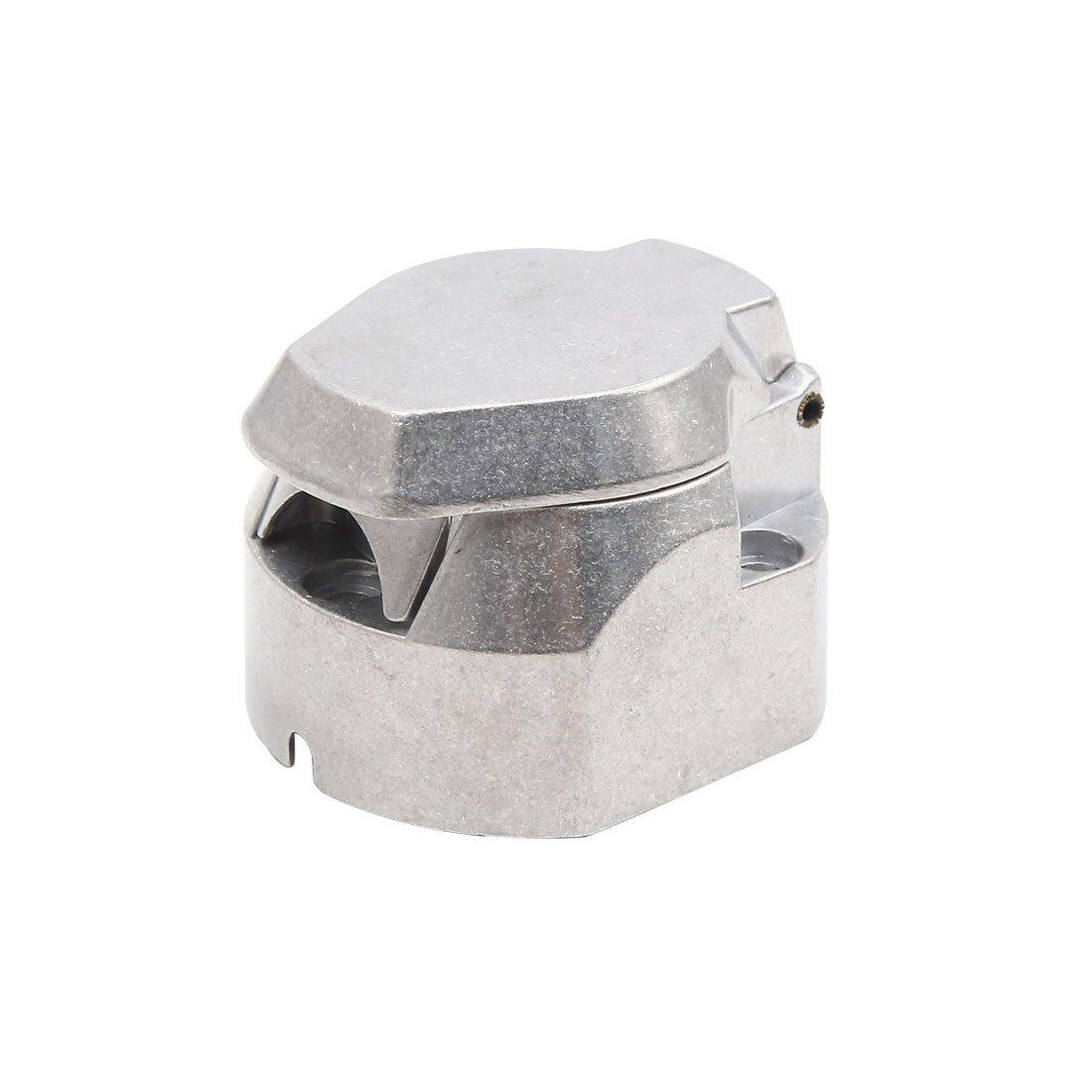 uxcell 13 Pin Flat Round Shape Aluminum Alloy Trailer Towbar Light Connector Adapter