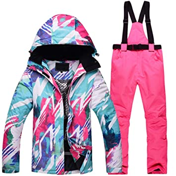 ZXGJHXF Traje de esquí o Snowboard para Mujer Chaqueta y ...