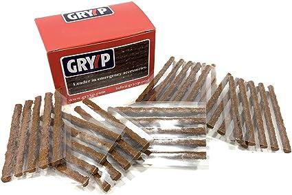 Gryyp - Mechas reparapinchazos, Caja 60 mechas. Coche, Moto, Bici ...