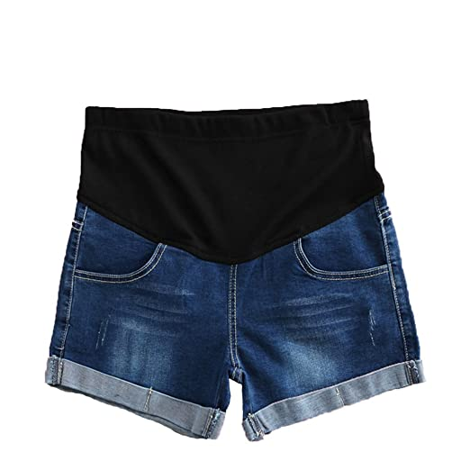 573f26ce0151b Sunny Maternity Denim Shorts Summer Pregnant Women Shorts Linen Pants Care  Belly Denim Cotton at Amazon Women's Clothing store: