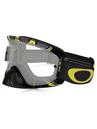 6c7063e1530 Oakley Motocross Goggles O2 MX Intimidator Gunmetal Yellow with Clear Lens   Amazon.co.uk  Sports   Outdoors