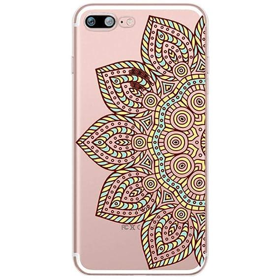 Amazon.com: Floral Lace Mandala Flower Soft Silicone Clear ...