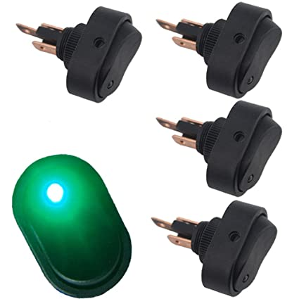 amazon com 12v 30a waterproof led light on off car boat marine autoamazon com 12v 30a waterproof led light on off car boat marine auto motorcycle 3p rocker spst toggle switch,pack of 4 (green) automotive
