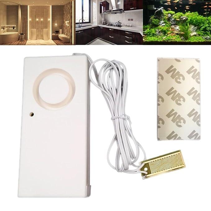 HKFV Home - Detector de flujo de agua para casa, excelente diseño creativo, alarma de fugas de agua, alarma de advertencia, nivel de inundación, ...
