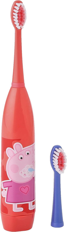 Peppa Pig Cepillo De Dientes Eléctrico Infantil Con Dos Cabezales Y Pila Incluida 100 g