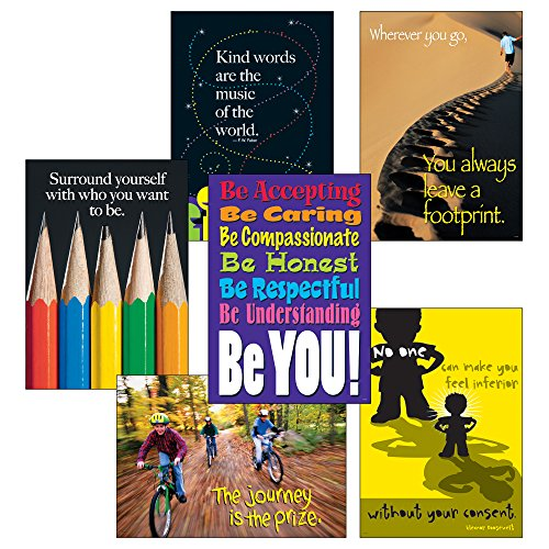 Large Poster Combo Pack Classroom - Trend Enterprises Think Positively Set Argus Large Posters Combo Pack