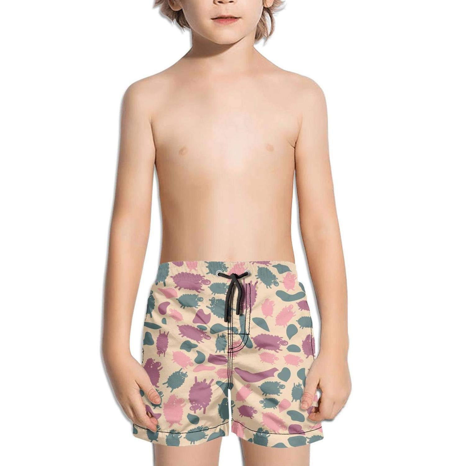 Camouflage Animal Sheep Goat String Solid Quick Dry Swimming Trunks Shorts