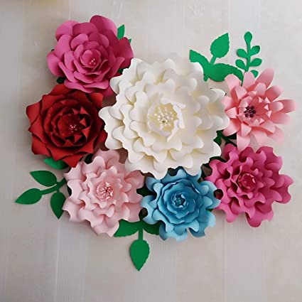 Big Set DIY Color Paper Flower For Wedding Backdrop Baby Shower Special  Events Home Livingroom Decor