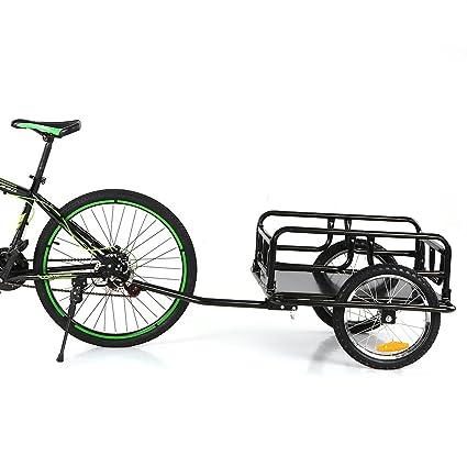 Amazon.com : IKAYAA Folding Bike Cargo Trailer Hand Wagon Bicycle ...