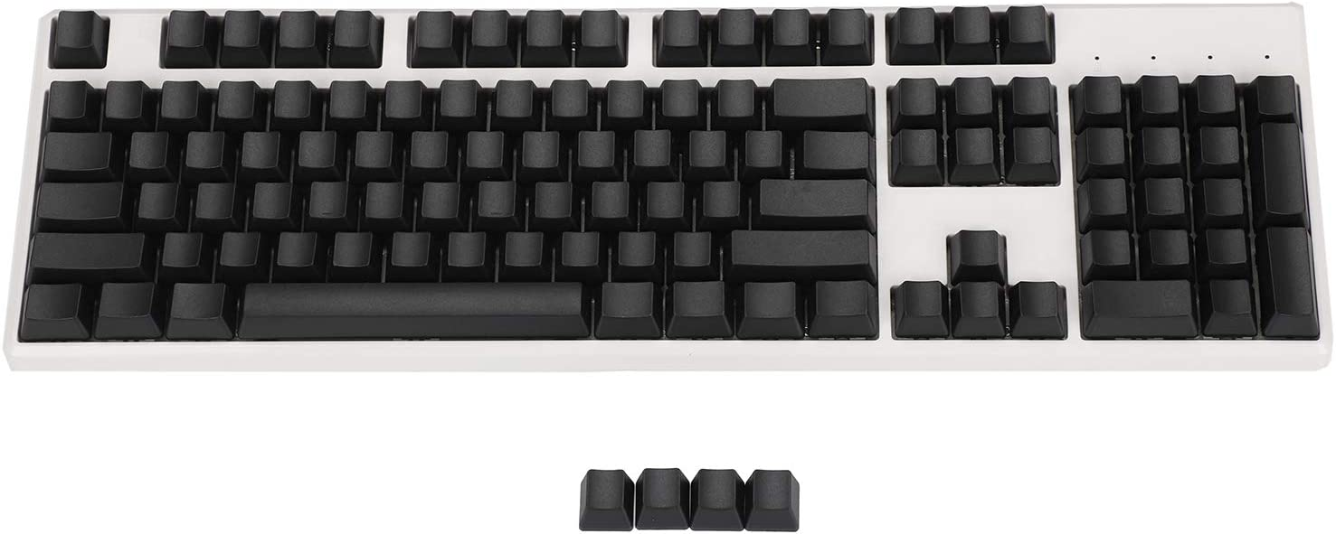 Blank Thick PBT OEM Profile 108 ANSI Keycaps for MX Switches Mechanical Keyboard (Only Keycap) (Black)