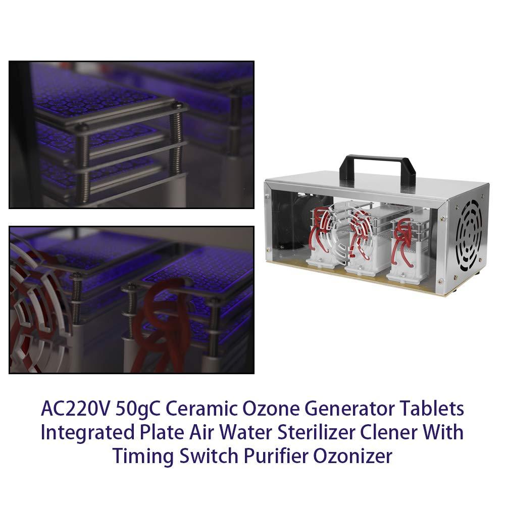 KKmoon AC220V 50gC Keramische Ozongenerator-Tabletten Integrierte Plattenluft Wasser Sterilisator Clener Mit Zeitschalter Reiniger Ozonisator /¡/