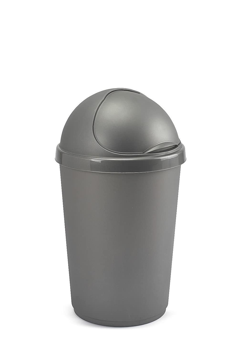 Plastic Flip Top Rectangle Bullet Waste Paper Rubbish Kitchen Bin Whitefurze (Silver) Whitefurze UK