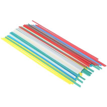 JunYe 50 Varillas de Soldadura de plástico de 5 Colores con Resistencia a la corrosión: Amazon.es: Hogar