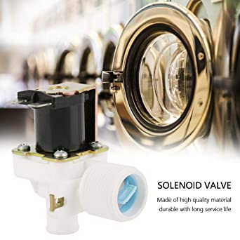 3//4 Inch Normally Open Plastic Electric Air Gas Water Solenoid Valve 220//240V AC